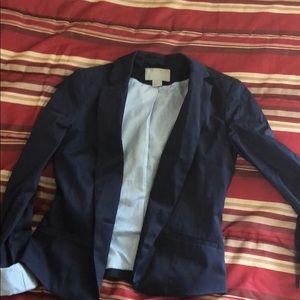 Navy blue blazer.